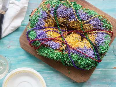 "Craving king cake? Find it at <a href=""https://everout.com/events/mardi-gras-bayou-pop-up/e22187/"" target=""_blank"" rel=""noopener"" data-cke-saved-href=""https://everout.com/events/mardi-gras-bayou-pop-up/e22187/"">Doyle's Public House</a> or <a href=""https://everout.com/events/mardi-gras-weekend-2020-at-geaux-brewing/e21941/"" target=""_blank"" rel=""noopener"" data-cke-saved-href=""https://everout.com/events/mardi-gras-weekend-2020-at-geaux-brewing/e21941/"">Geaux Brewing</a>."
