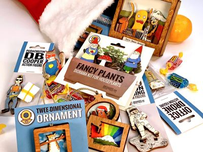 "Find crafty wares (like the houseplant props, 3-D ornaments, and PNW-themed action figures pictured here from 20 Leagues) from over 150 vendors at Urban Craft Uprising's online <a href=""https://everout.com/stranger-seattle/events/urban-craft-uprising-2020-winter-show/e39064/"">Winter Show</a>."