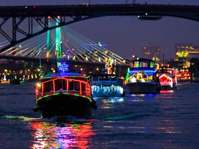 """Hark! The light-adorned <a href=""""https://everout.com/events/christmas-ships/e39124/"""">Christmas Ships</a> will return to the Columbia and Willamette rivers to spread holiday cheer starting on December 4."""
