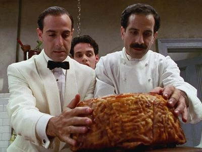 """Have a <a href=""""https://everout.com/portland-mercury/events/big-night/e39672/""""><em>Big Night</em></a> at home: Watch the classic foodie film with Stanley Tucci and Tony Shalhoub and tuck into comforting Italian takeout dishes of your own from places like <a href=""""https://everout.com/portland-mercury/locations/pop-pizza/l39787/"""">Pop Pizza</a> and <a href=""""https://everout.com/portland-mercury/locations/canard/l19848/"""">Canard</a>, which has started serving luxe take-and-bake lasagna."""
