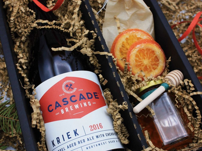 """Warm up with <a href=""""https://everout.com/portland-mercury/search/?q=cascade%20brewing"""">Cascade Brewing</a>'s Glueh Kriek, a spiced mulled sour cherry ale served hot on tap or available as a DIY kit."""