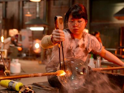 "Glass artists Nao Yamamoto (pictured) and Tegan Hamilton rep Seattle on the new season of the glass-blowing competition show <a href=""https://everout.com/events/blown-away-season-2/e40660/""><em>Blown Away</em></a>, hitting Netflix this Friday."