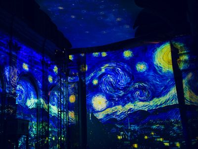 "Paintings like ""The Starry Night"" will be liberated from their canvases for your light-bathing pleasure."
