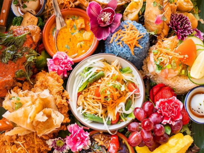 """The San Francisco-based <a href=""""https://everout.com/portland-mercury/locations/farmhouse-kitchen-thai-cuisine/l40289/"""">Farmhouse Kitchen Thai Cuisine</a>, known for its bountiful takeout feasts like the """"Little Lao"""" table set (pictured), has opened a second Portland location in the Pearl District.&nbsp;"""