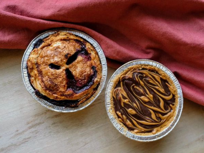 """Celebrate Pi Day with creative pies in flavors like Tagalong Girl Scout cookie and blueberry, goat cheese, and basil, available from the pop-up <a href=""""https://everout.com/stranger-seattle/events/gray-seas-pie-pop-up/e43132/"""">Gray Seas Pies</a> on Sunday."""