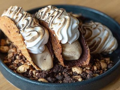 "<a href=""https://www.thestranger.com/locations/26138905/sawyer"">Sawyer</a>'s s'more choco tacos are available for takeout, in case you were wondering."