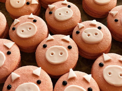 """To celebrate the Year of the Pig, Fuji Bakery is offering these adorably porcine macarons at their <a href=""""https://www.thestranger.com/locations/14339239/fuji-bakery"""">Interbay</a> location."""