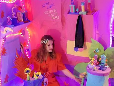 """Kitsch colors and happy faces will lift your mood at Colleen Louise Barry's <i><a href=""""https://www.thestranger.com/events/41169680/colleen-louise-barry-the-trophy-room"""">Trophy Room.</a></i>"""