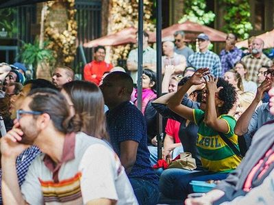 """Soccer fans of all ages can watch nearly every game in the fresh air at <a href=""""https://www.thestranger.com/events/40420967/fifa-womens-world-cup-2019""""><b>Occidental Square</b>."""