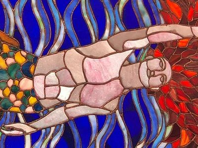 """Matthew-Mary Caruchet's stained-glass queer art is one of the works in <i>Through the LooQing Glass</i>, part of the Factory's <a href=""""https://www.thestranger.com/events/40298618/three-pride-shows"""">Three Pride Shows</a>."""