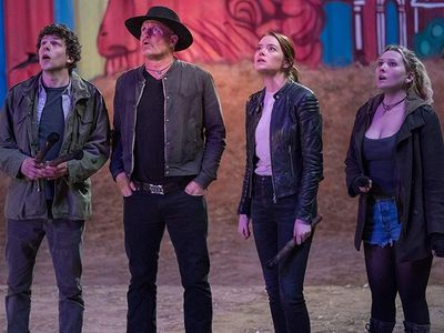 """Döppelgangers and undead ghouls, oh my! The apocalypse is funny in <i><a href=""""https://everout.thestranger.com/movies/zombieland-double-tap/A22753/"""">Zombieland: Double Tap.</i>"""
