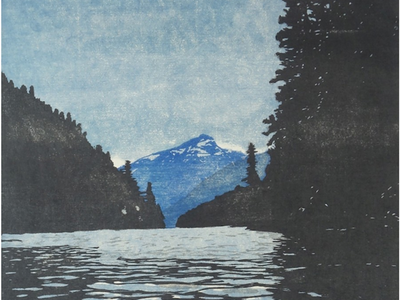 """Let your eyes rest in the tranquility of painterly woodblock prints at <i><a href=""""https://www.thestranger.com/events/40909514/eva-pietzcker-earth-water-light"""">Eva Pietzcker: Earth, Water, Light</a></i>."""