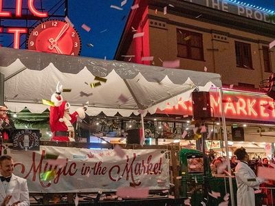 """Saturday's 24th annual <a href=""""https://www.thestranger.com/events/40869172/24th-annual-magic-in-the-market"""">Magic in the Market</a> will bring a tree lighting, seasonal snacks and drinks, choirs, and photos with Santa to Pike Place."""