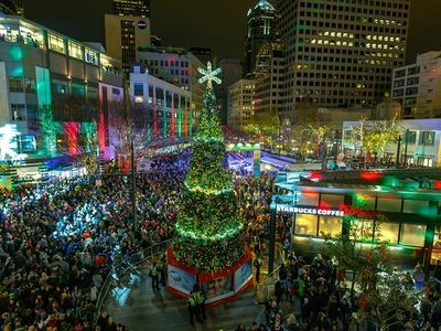 """Downtown is the place to be the day after Thanksgiving—after the <a href=""""https://www.thestranger.com/events/42065043/macys-holiday-parade"""">Macy's Holiday Parade</a>, the department store's gigantic star will light up on the same night as Westlake Park's <a href=""""https://www.thestranger.com/events/42095678/downtown-holiday-tree-lighting-and-macys-star-lighting-celebration"""">Downtown Holiday Tree Lighting</a>."""