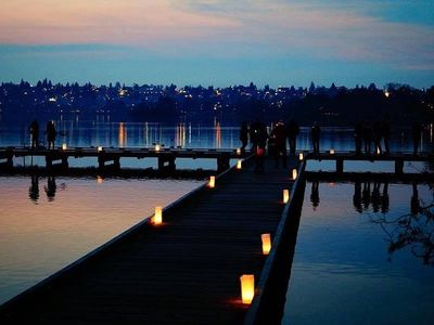 """Warm up with holiday treats and enjoy the glow of thousands of candles at <a href=""""https://www.thestranger.com/events/42054100/green-lake-pathway-of-lights"""">Green Lake Pathway of Lights</a> on Saturday."""