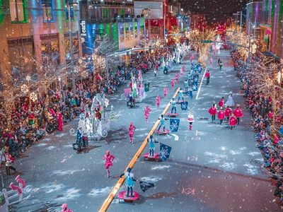"""Toy drummers and sugar plum fairies will continue to jingle their bells in Downtown Bellevue's <a href=""""https://www.thestranger.com/events/41108087/snowflake-lane"""">Snowflake Lane</a> parade every night through Christmas Eve."""