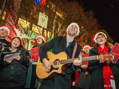 """Dozens of caroling teams will gather in Westlake Center on Friday for the annual <a href=""""https://www.thestranger.com/events/41108132/the-great-figgy-pudding-caroling-competition"""">Great Figgy Pudding Caroling Competition</a>."""