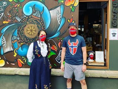 """<a href=""""https://everout.com/seattle/events/syttende-mai-at-skal-beer-hall/e100308/"""">Sk&aring;l Beer Hall</a> will have live music, a walk-up aquavit window, and more until 10 pm today. Reservations are encouraged."""