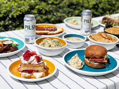 """Make your Memorial Day barbecue a breeze with ready-to-grill proteins, side dishes, and build-your-own strawberry shortcake from <a href=""""https://everout.com/seattle/locations/heavy-goods/l40768/"""">Heavy Goods</a>."""