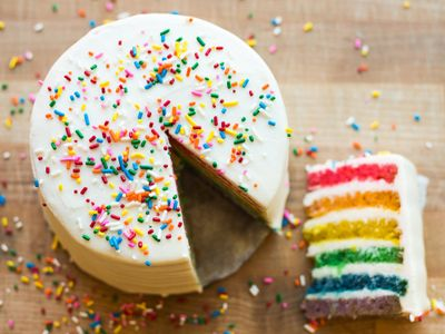 """<a href=""""https://everout.com/seattle/locations/the-flora-bakehouse/l13788/"""">The Flora Bakehouse</a> is selling whole rainbow cakes and will have slices available during Pride Weekend (June 26-27) to benefit the Trans Justice Funding Project."""