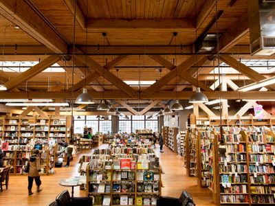 """Take refuge from the heat in the cool-yet-cozy aisles of <a href=""""https://everout.com/seattle/locations/elliott-bay-book-company/l19567/"""">Elliott Bay Book Company</a>."""