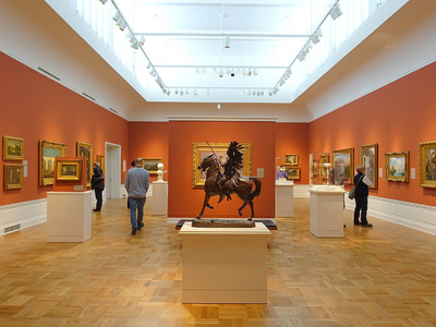 """Take refuge from the heat in the cool galleries of the <a href=""""https://everout.com/portland/locations/portland-art-museum/l27811/"""">Portland Art Museum</a>."""