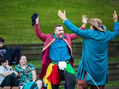 """GreenStage's <a href=""""https://everout.com/seattle/events/greenstages-shakespeare-in-the-park/e100442/"""">Shakespeare in the Park</a> returns this weekend with outdoor productions of <em>Twelfth Night</em>, <em>A Midsummer Night's Dream</em>, and <em>The Tempest</em>."""