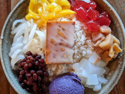 """Chef Carlo Lamagna's acclaimed Filipino restaurant <a href=""""https://everout.com/portland/locations/magna-kusina/l19296/"""">Magna Kusina</a> is back and serving halo-halo topped with house-made ube ice cream."""