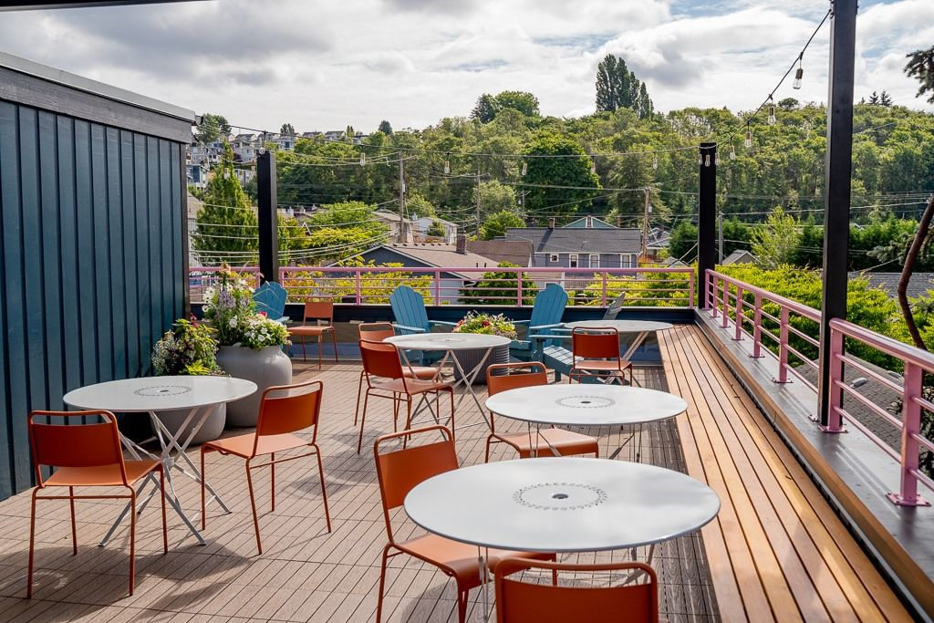 This Week in Seattle Food News: Flora Bakehouse Opens a Rooftop Patio, Opus Co. Says Goodbye, and Mochi Donuts and Rice Dogs Come to Southcenter