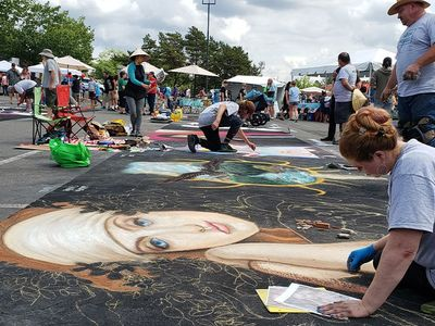 """Stunning chalk art will grace the streets of downtown Beaverton for the La Strada dei Pastelli festival, which will be hosted in collaboration with the <a href=""""https://everout.com/portland/events/beaverton-night-market-with-la-strada-dei-pastelli/e103303/"""">Beaverton Night Market</a>."""