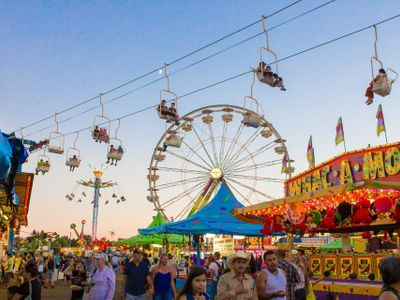 """Come to the <a href=""""https://everout.com/portland/events/2021-oregon-state-fair/e101948/"""">Oregon State Fair</a> for all the fried foods your stomach can handle, and stay for the <a href=""""https://everout.com/portland/events/columbia-bank-concert-series/e102196/"""">Columbia Bank Concert Series</a>, carnival rides, and more family fun."""