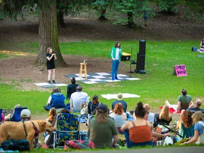 """Pull up to Laurelhurst Park with a blanket for one of Kickstand Comedy's last <a href=""""https://everout.com/portland/events/comedy-in-the-park/e102221/"""">Comedy in the Park</a> shows of the summer."""
