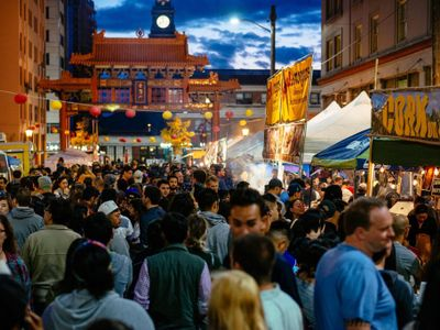 """Nosh on Asian delicacies at the <a href=""""https://everout.com/seattle/events/c-id-night-market-2021/e103585/"""">Chinatown-International District Night Market</a> while taking in performances ranging from taiko to wushu."""